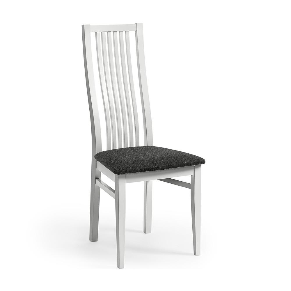 Allegro stol vitlack tygsits Nilssons Möbler i Lammhult AB