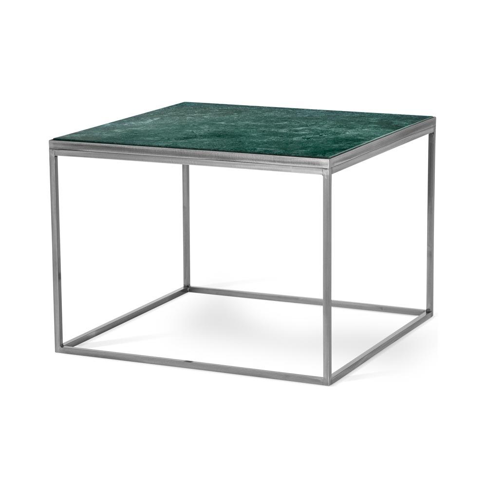 Bergen soffbord 70 marmor grön metall klar Nilssons Möbler i Lammhult AB