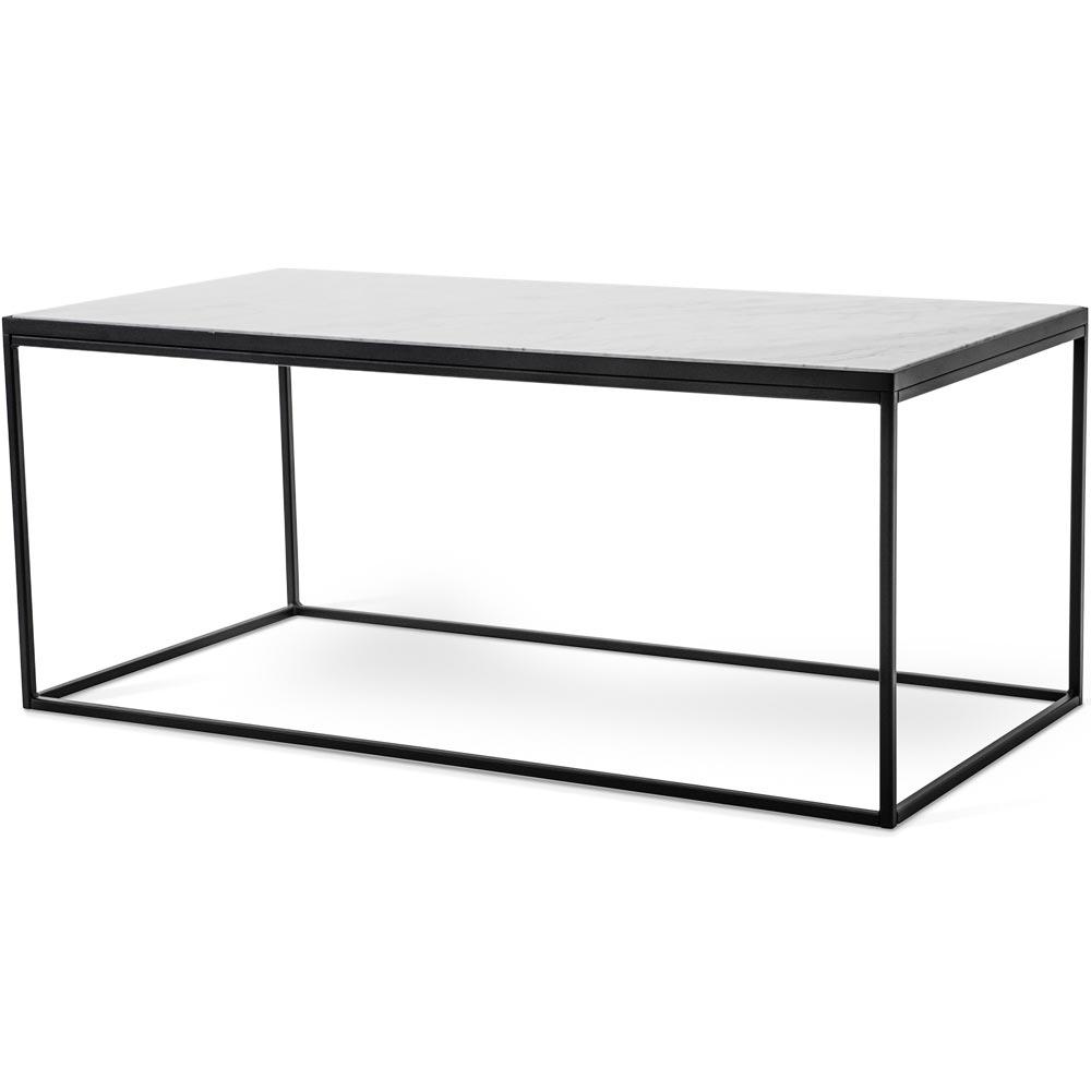 Bergen soffbord 120 marmor vit metall svart Nilssons Möbler i Lammhult AB