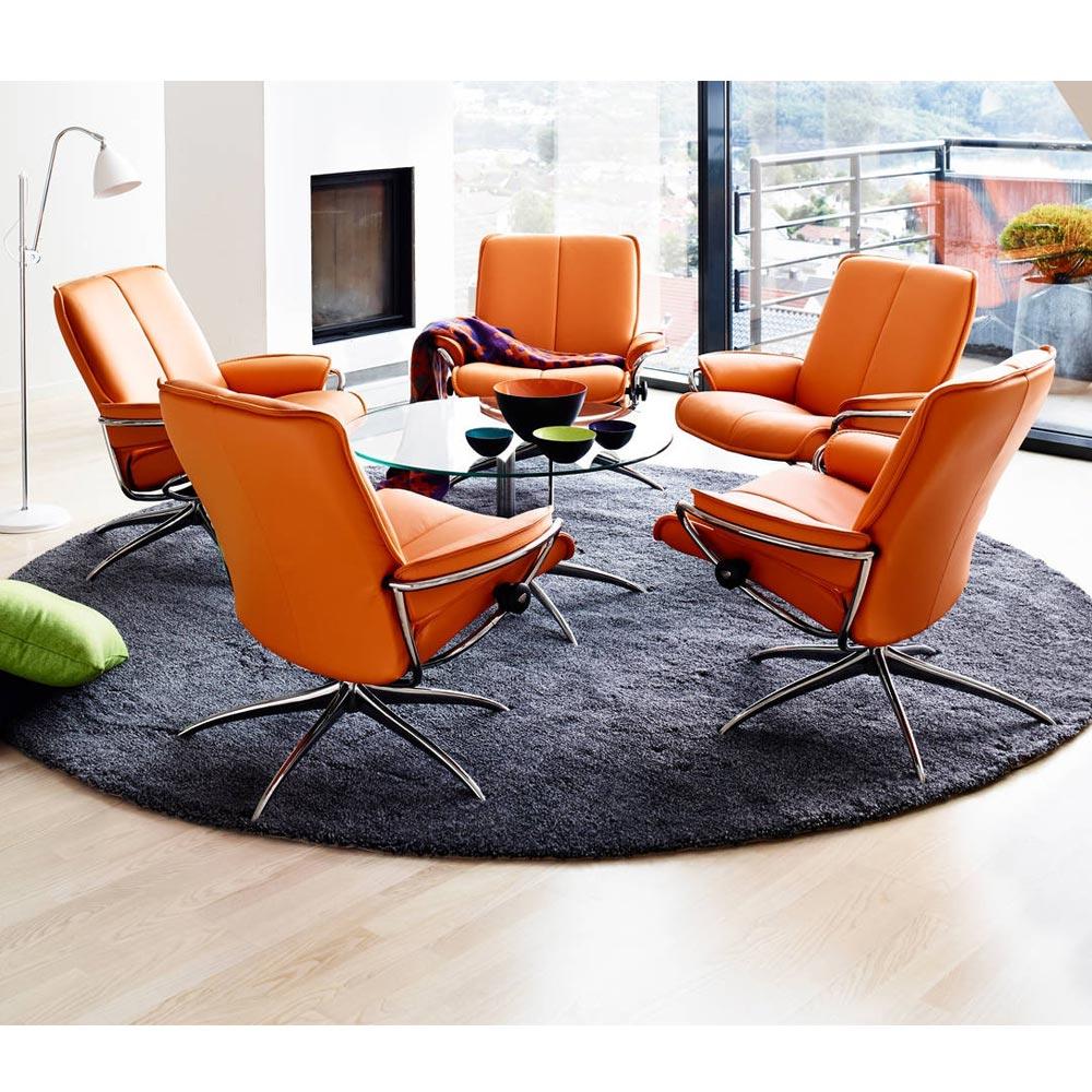 stressless city f t lj pall l der paloma svart nilssons m bler i lammhult ab. Black Bedroom Furniture Sets. Home Design Ideas