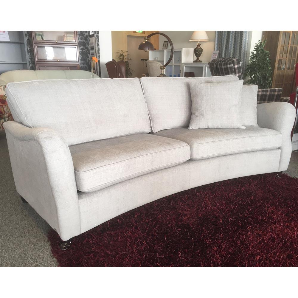 Bra Leeds soffa 3-sits svängd - tyg matiss 54 silver - Nilssons Möbler RA-57