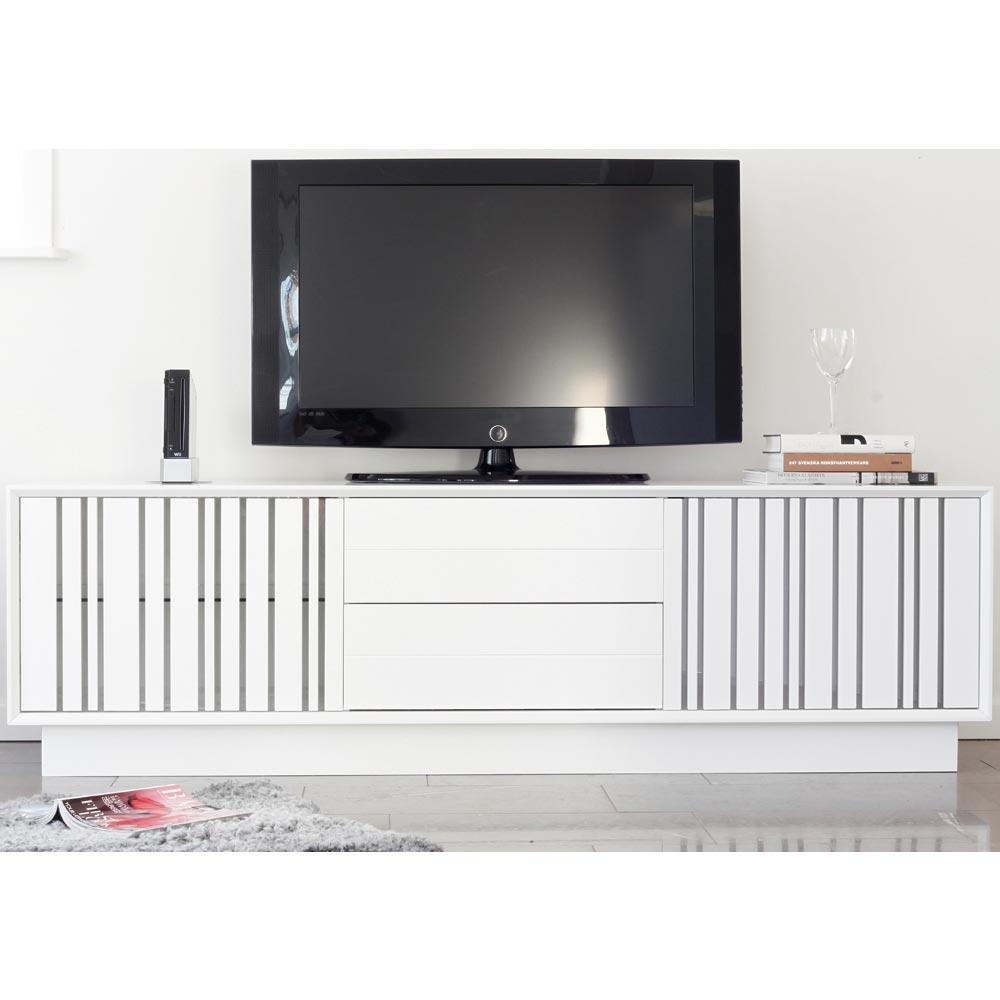 Line 54 TV bänk 2 lådor vitlack Nilssons Möbler i Lammhult AB