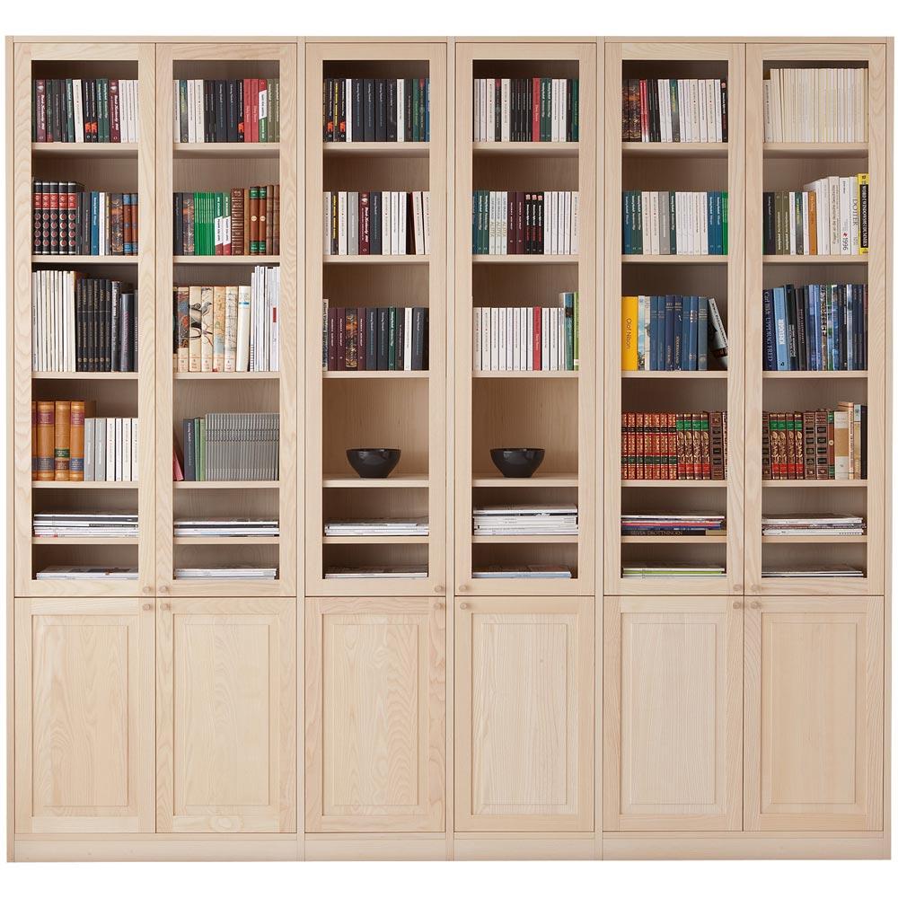 Monté bokhylla med dörrar vitoljad ask Nilssons Möbler i Lammhult AB