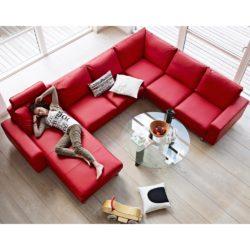Fräscha Stressless E200 soffa - läder batick chilli red - Nilssons Möbler TK-28