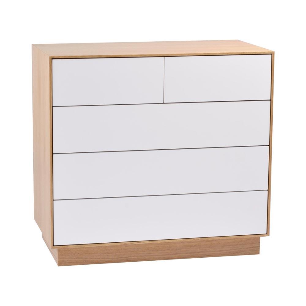 Tore byrå ek vitlack 3+2 lådor  Nilssons Möbler i