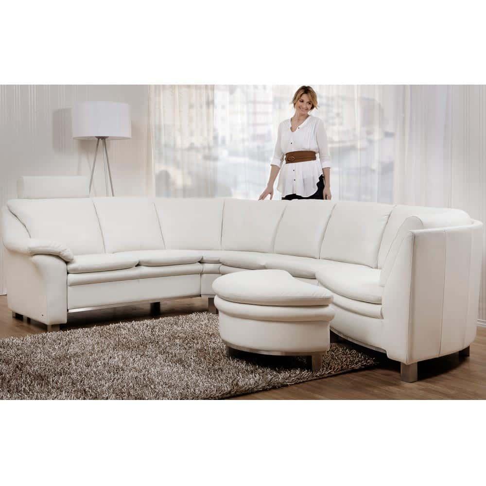 Wing Low byggbar soffa läder 5018sv vit Nilssons Möbler i Lammhult AB