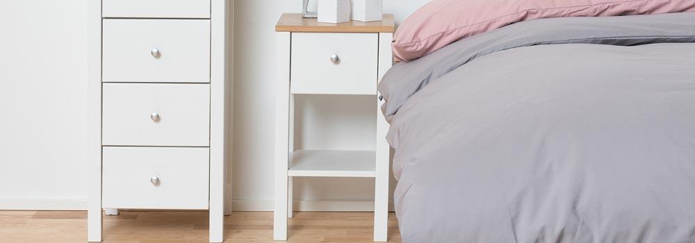 Eka sängbord, 3 lådor Inside Möbler