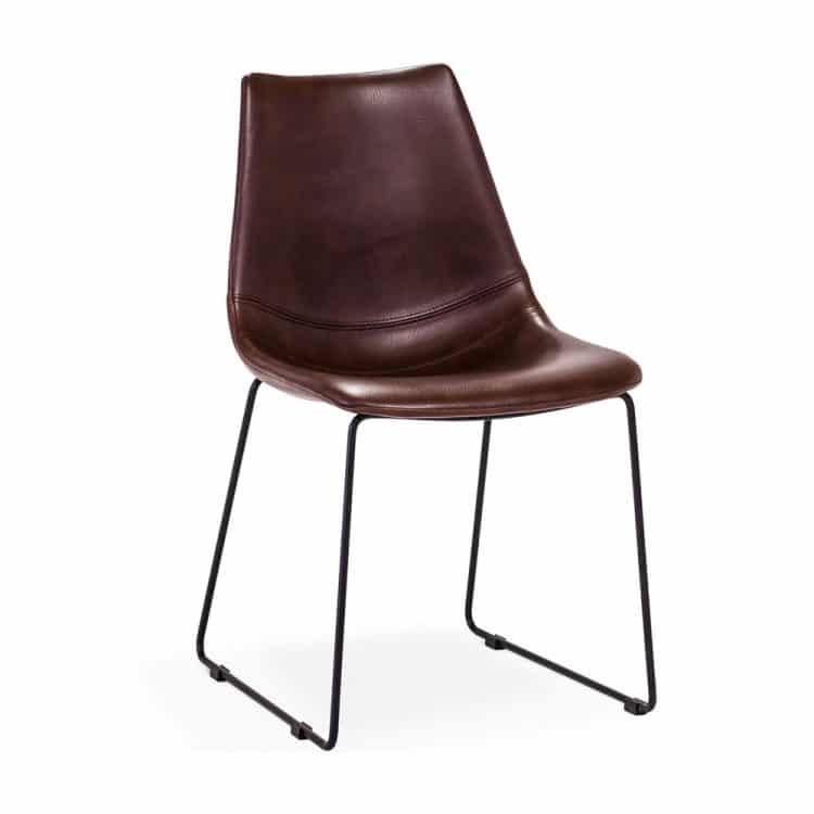 Fly-stol-brun-svart