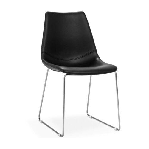 Fly-stol-svart-krom