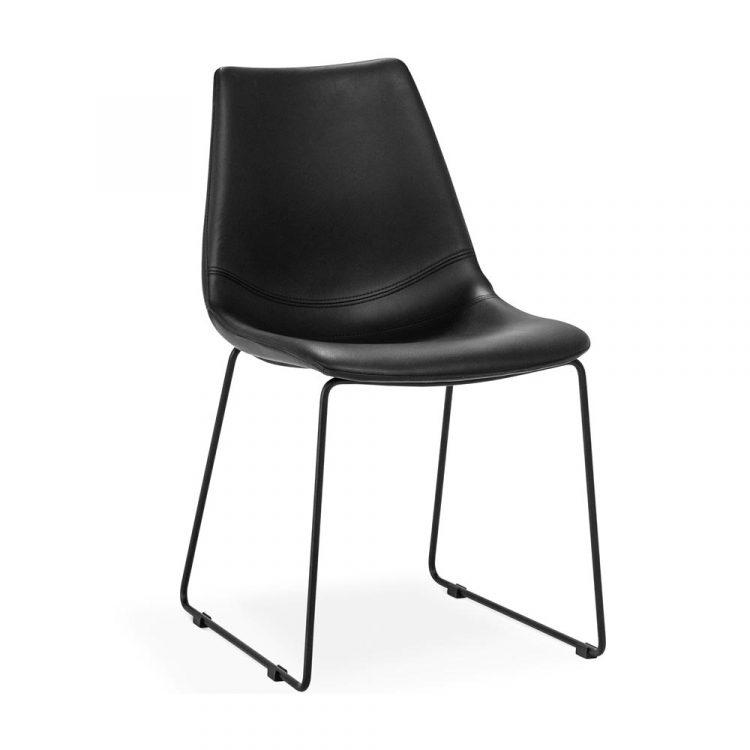 Fly-stol-svart-svart