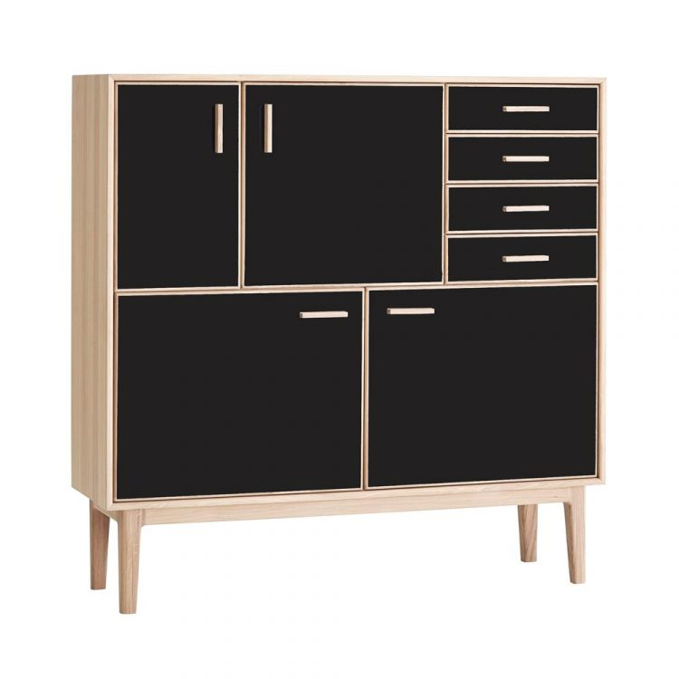 Caso-700-highboard-ek-svart