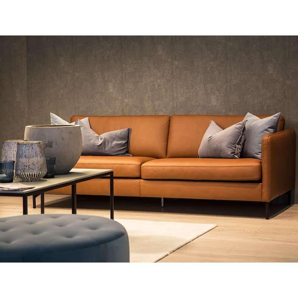 Omtalade Nordic soffa 3-sits XL - läder dolaro cognac - Nilssons Möbler i EP-95