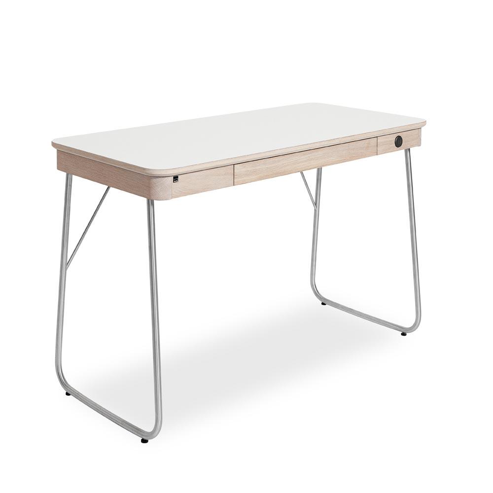 Omtalade SM130 skrivbord ek/ vitt laminat - Nilssons Möbler i Lammhult AB PV-13