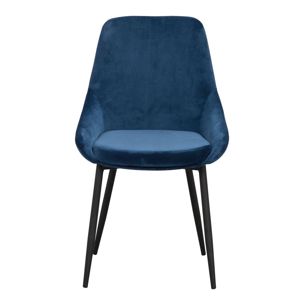 Sierra stol blå sammet Nilssons Möbler i Lammhult AB