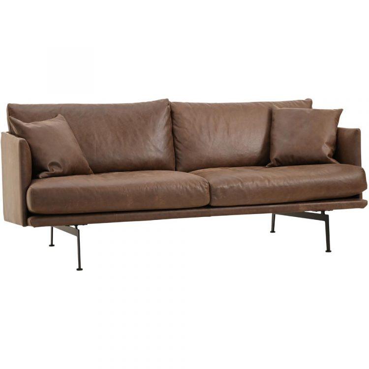 Electra-soffa-skinn-brun
